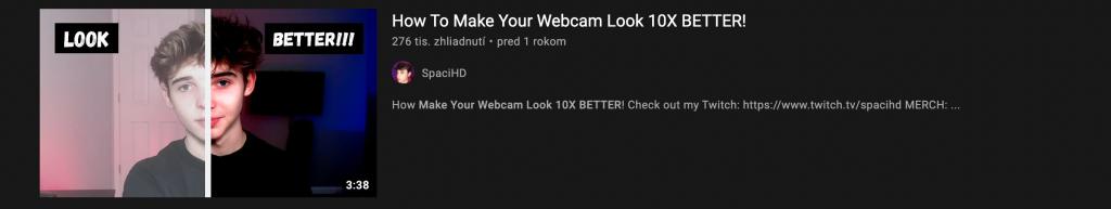 Obr. 2 Príklad videonávodu ako vyzerať dobre na kamere. Zdroj: https://www.youtube.com/watch?v=UwOM0S-eto8&ab_channel=SpaciHD