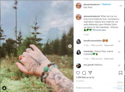 Osobný profil AllessandraDenoir na Instagrame