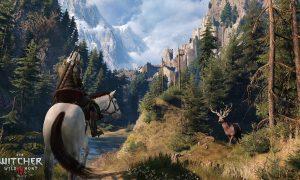Obr. 1 Zábery z hry The Witcher 3: Wild Hunt, obľúbenej aj pre peknú grafiku